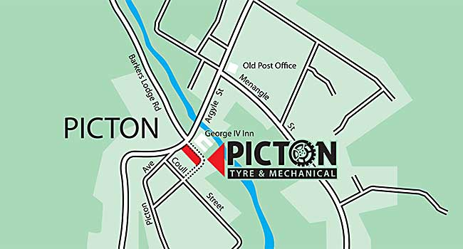 picton tyre and mechanical map